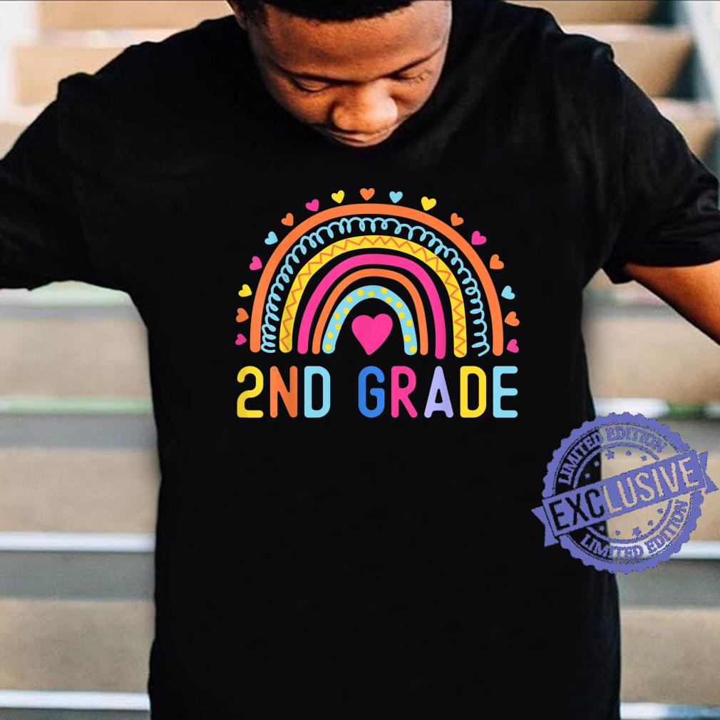 2nd Grade Rainbow Girl Boys Teacher Hello Second Grade Squad Shirt