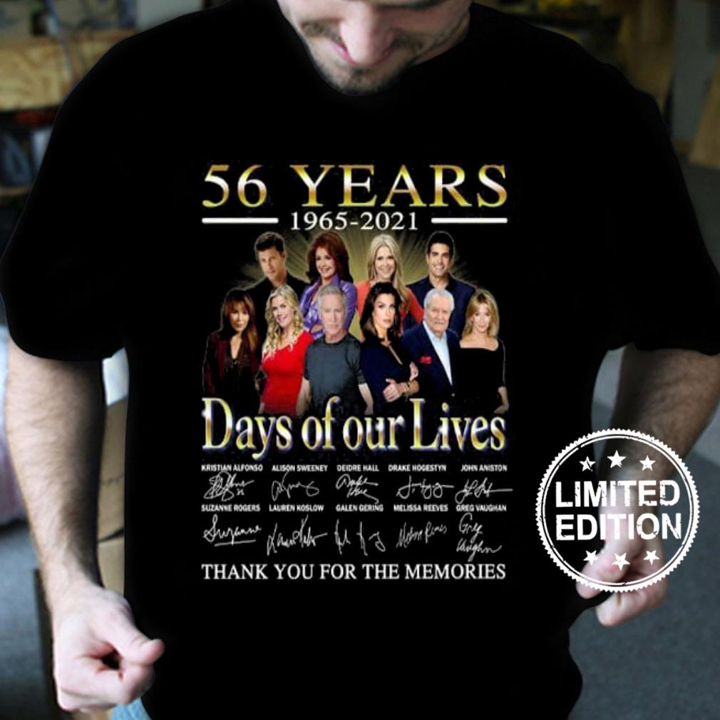 56 years 1965 2021 days of our lives thank you for the memories shirt