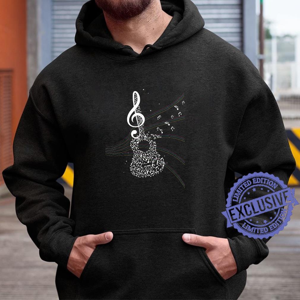 Akustik Gitarren Musik Geschenk Notenschlüssel Shirt hoodie