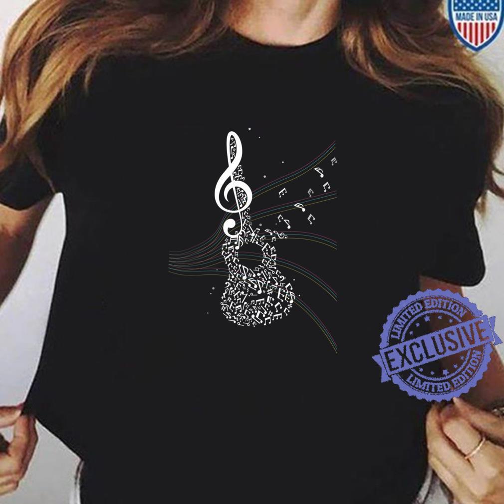 Akustik Gitarren Musik Geschenk Notenschlüssel Shirt ladies tee
