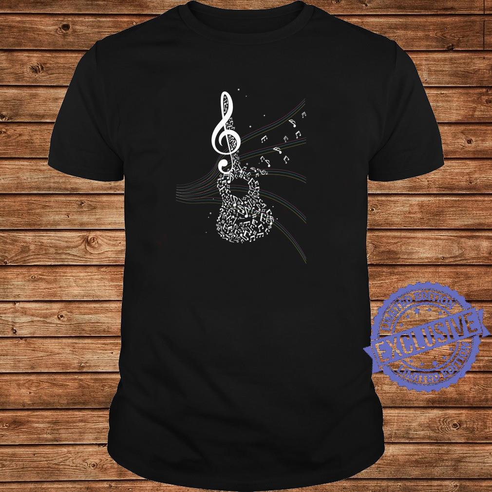 Akustik Gitarren Musik Geschenk Notenschlüssel Shirt long sleeved
