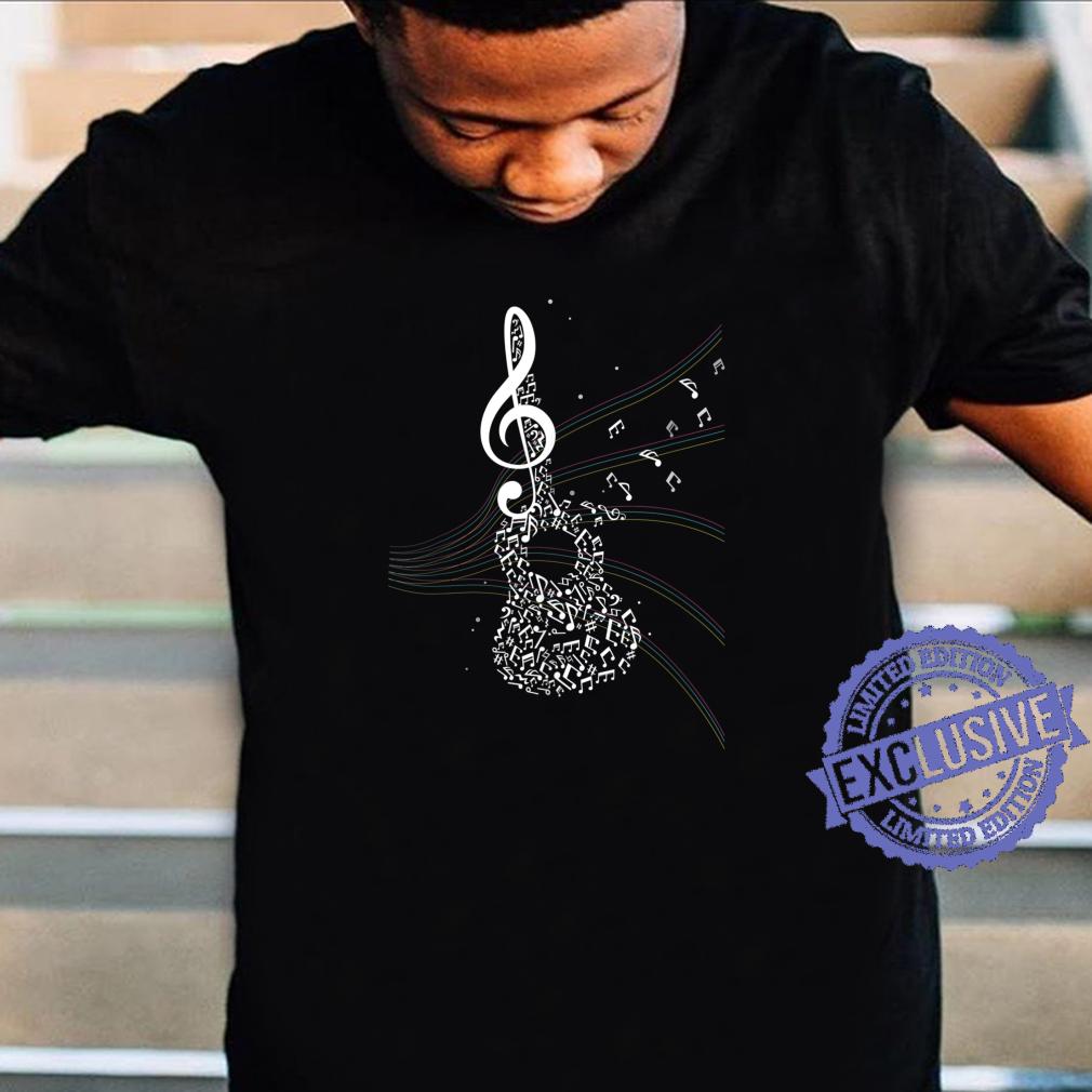 Akustik Gitarren Musik Geschenk Notenschlüssel Shirt