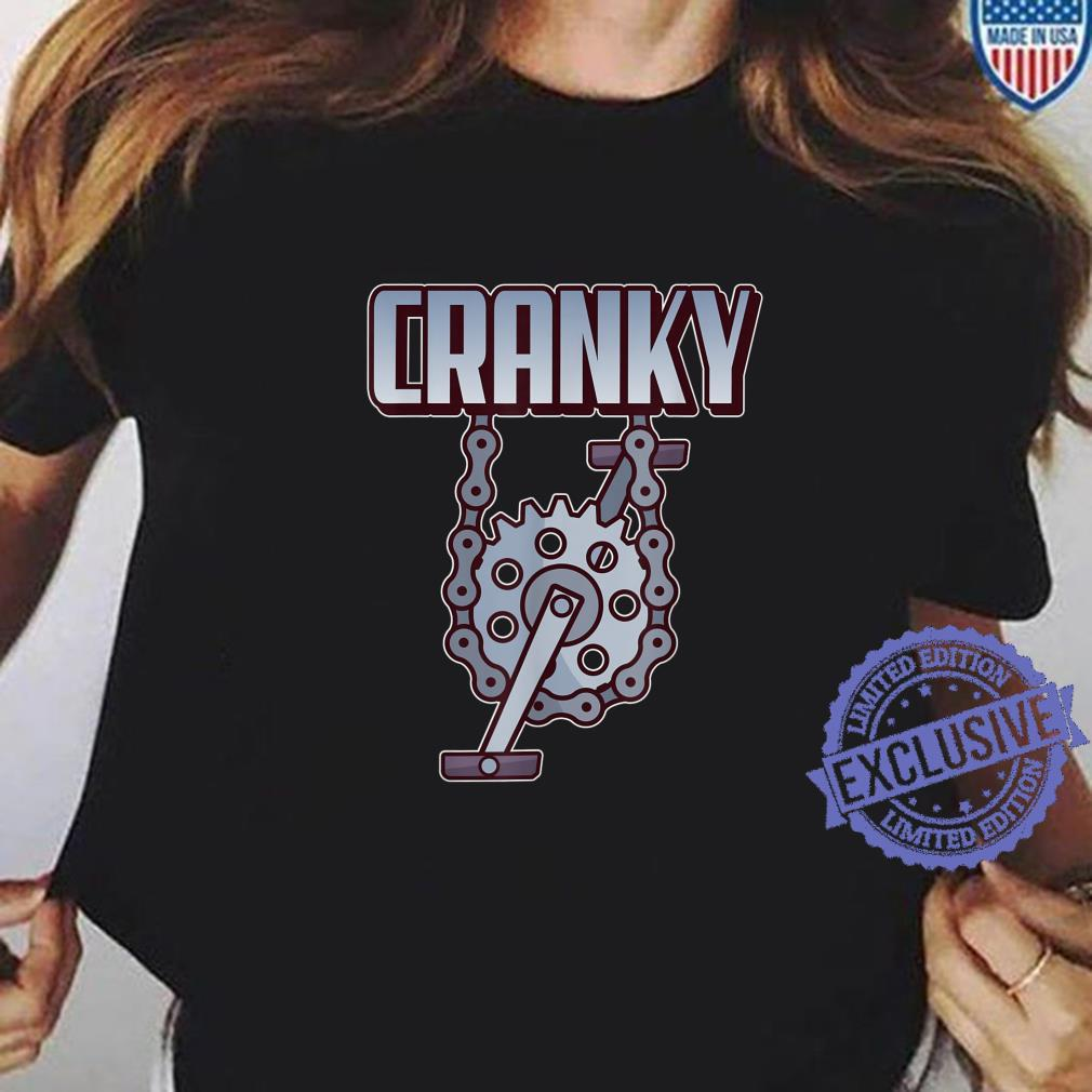 Funny Cranky For MTB Biker Bicycle Rider Cycling Shirt ladies tee