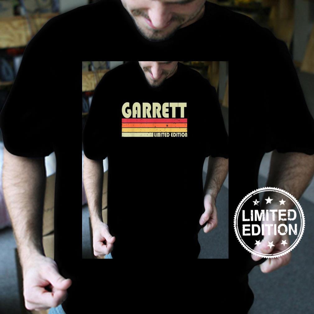 GARRETT Surname Retro Vintage 80s 90s Birthday Reunion Shirt