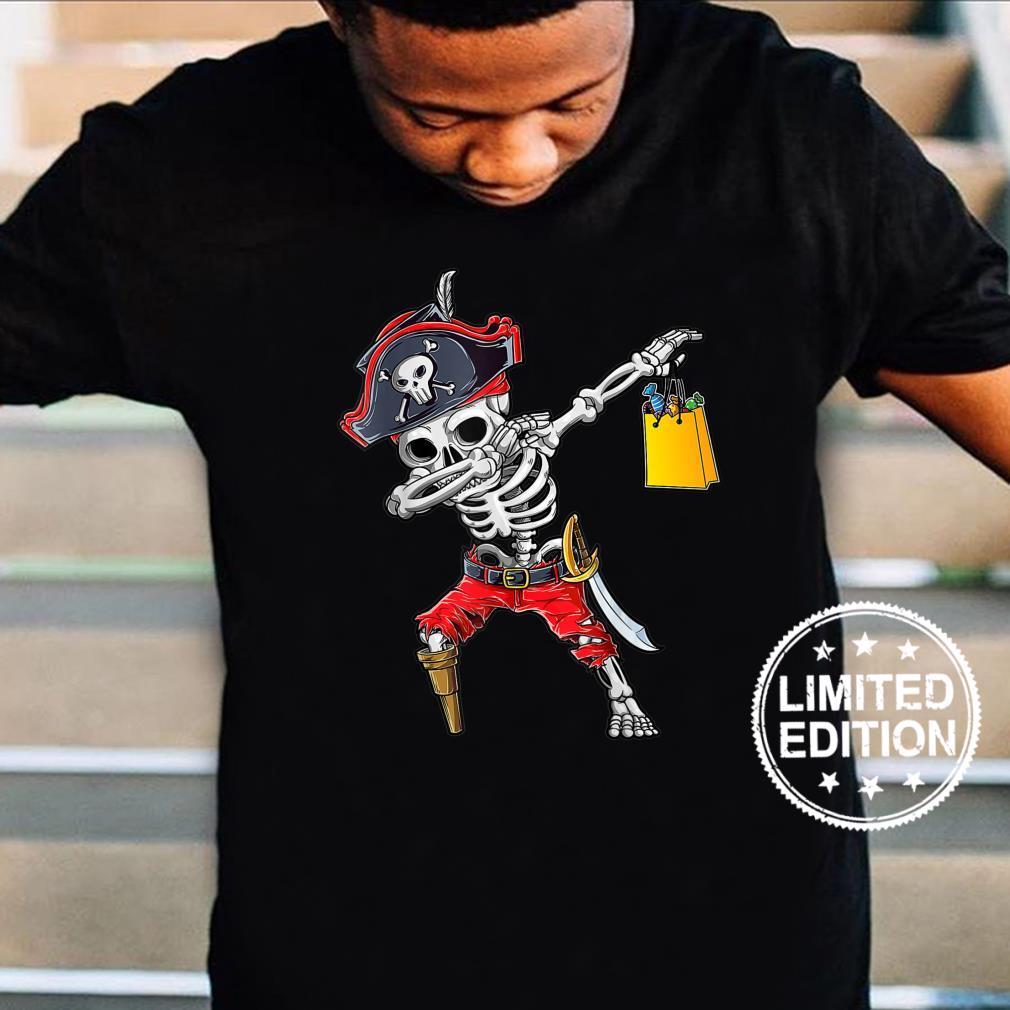Halloween Dabbing Pirate Skeleton Dab Boys Girls Shirt