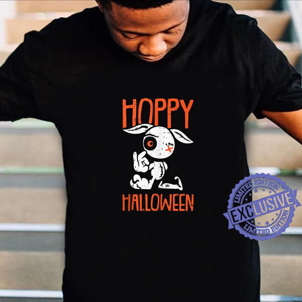 Hoppy Halloween Costume Cute Zombie Bunny Rabbit Pun Humor Shirt