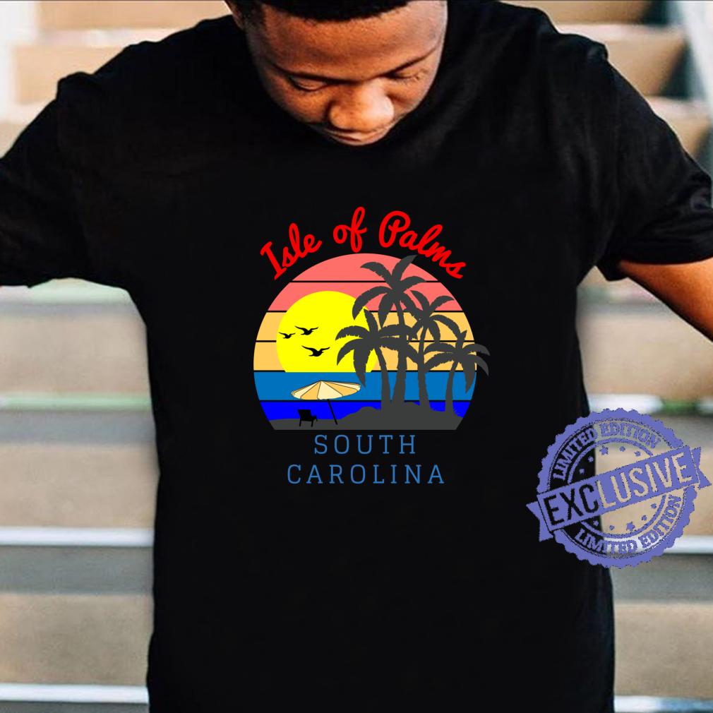 Isle of Palms, South Carolina Vintage Retro Beach Sunset Shirt