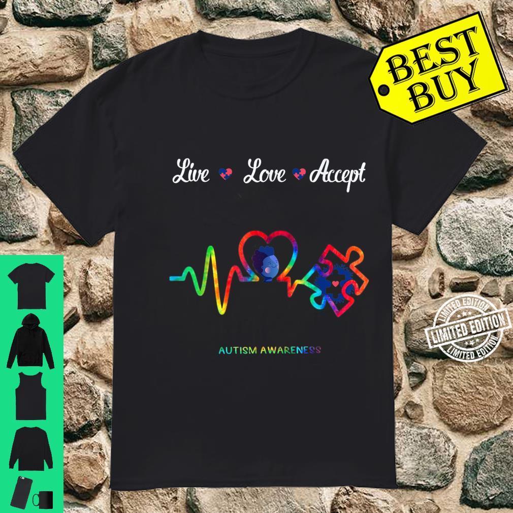 Live Love Accept Autism Awareness Shirt