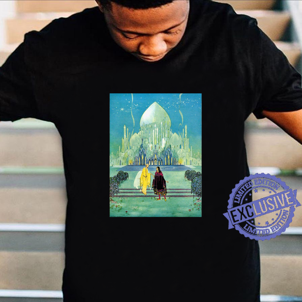 Mann und Frau Date Walking Romance Minarette Domes Storybook Langarmshirt Shirt