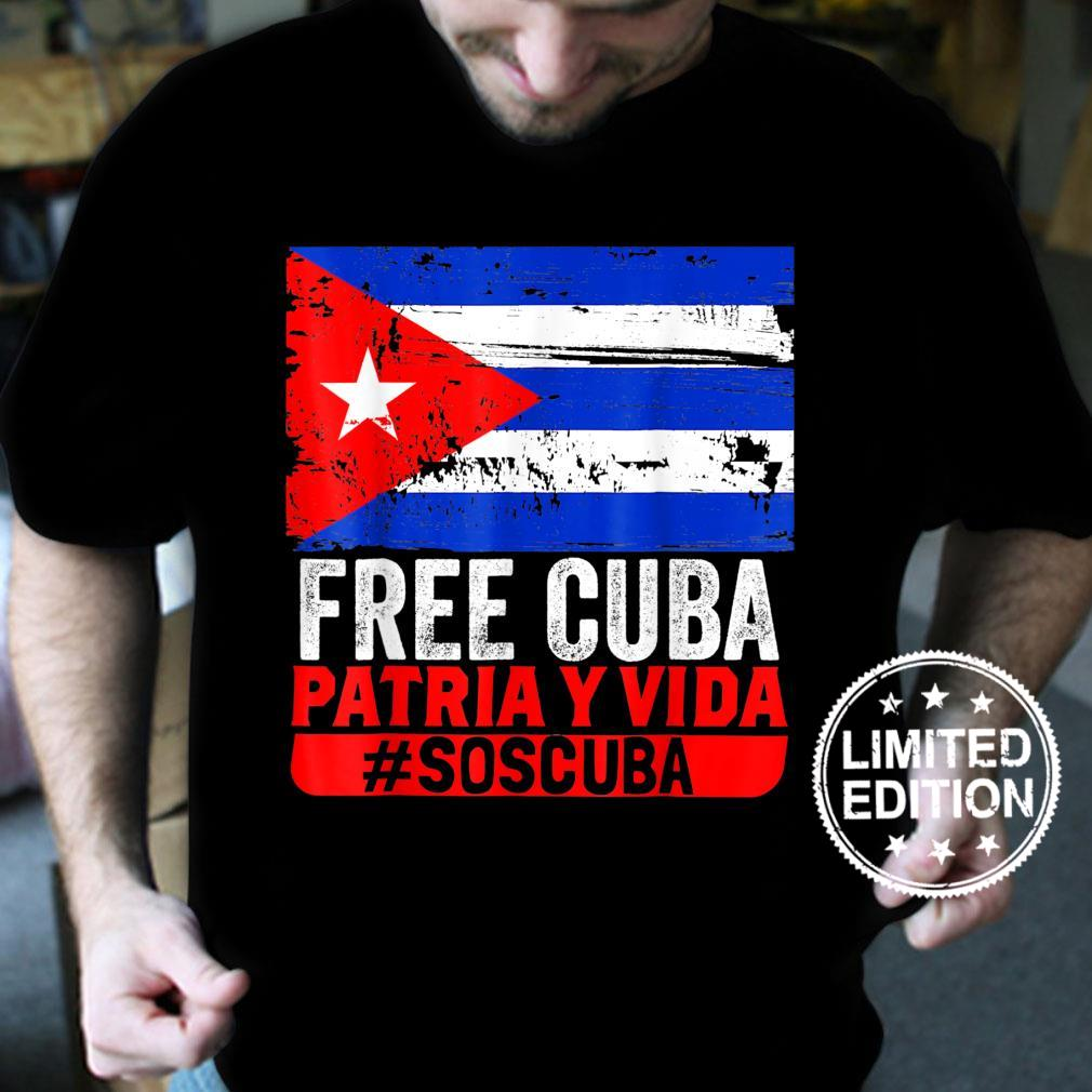 SOS Cuba Cuba Flag, Cuban Fist, Free Cuba Libre 2021 Shirt