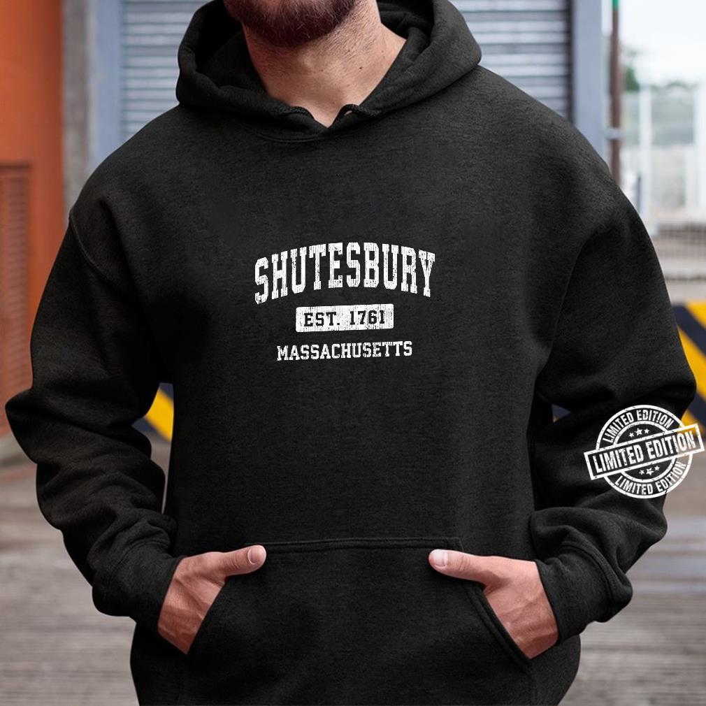 Shutesbury Massachusetts MA Vintage Sports Established Desig Shirt hoodie