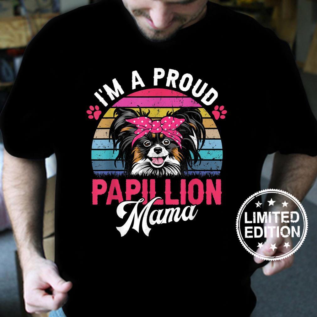 Vintage Papillion Mama Proud Papillion Mama Shirt