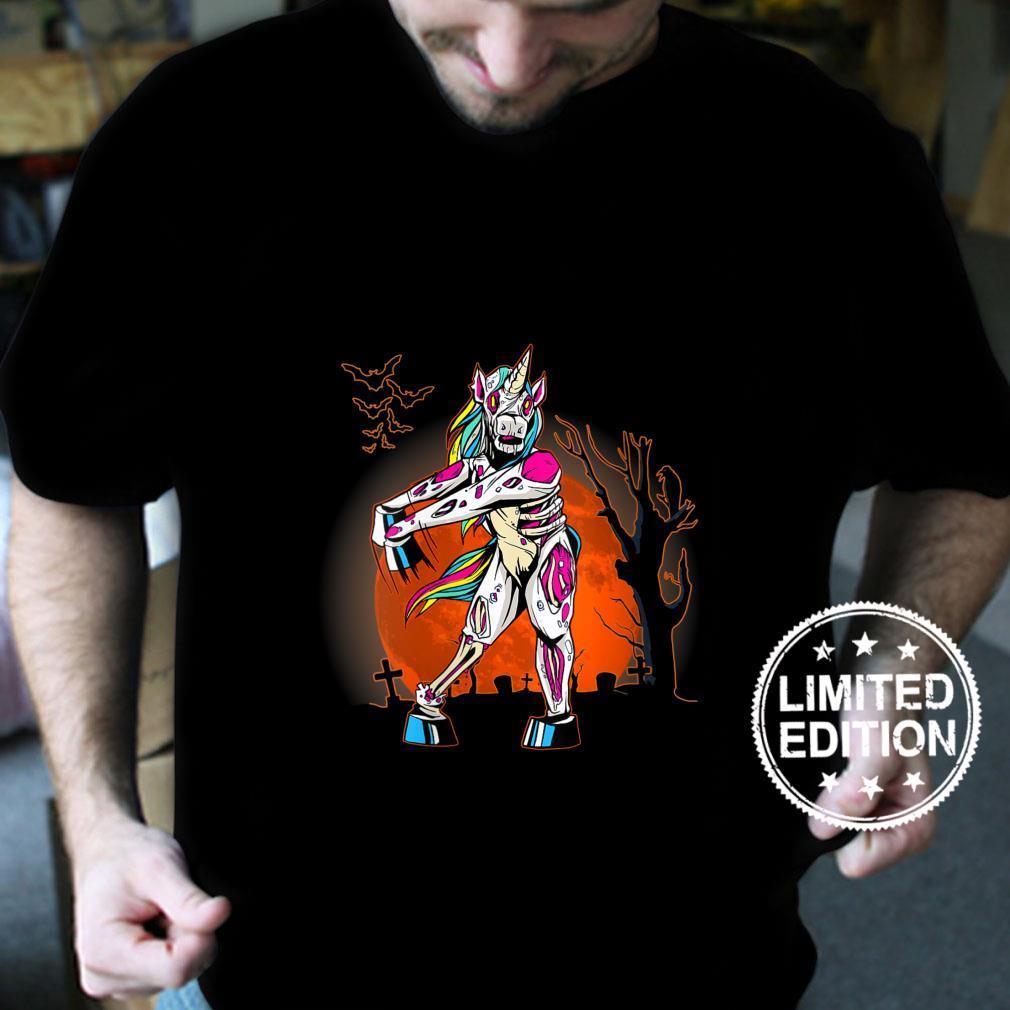 Womens A Halloween Boys Girls Flossing Unicorn Scary Costume Shirt