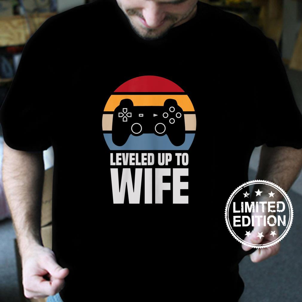 Womens Leveled Up To Wife For Her Newly Married Couple Shirt