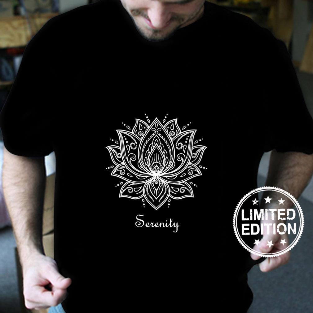 Womens Serenity Lotus Flower Spiritual Yoga Meditation Namaste Shirt