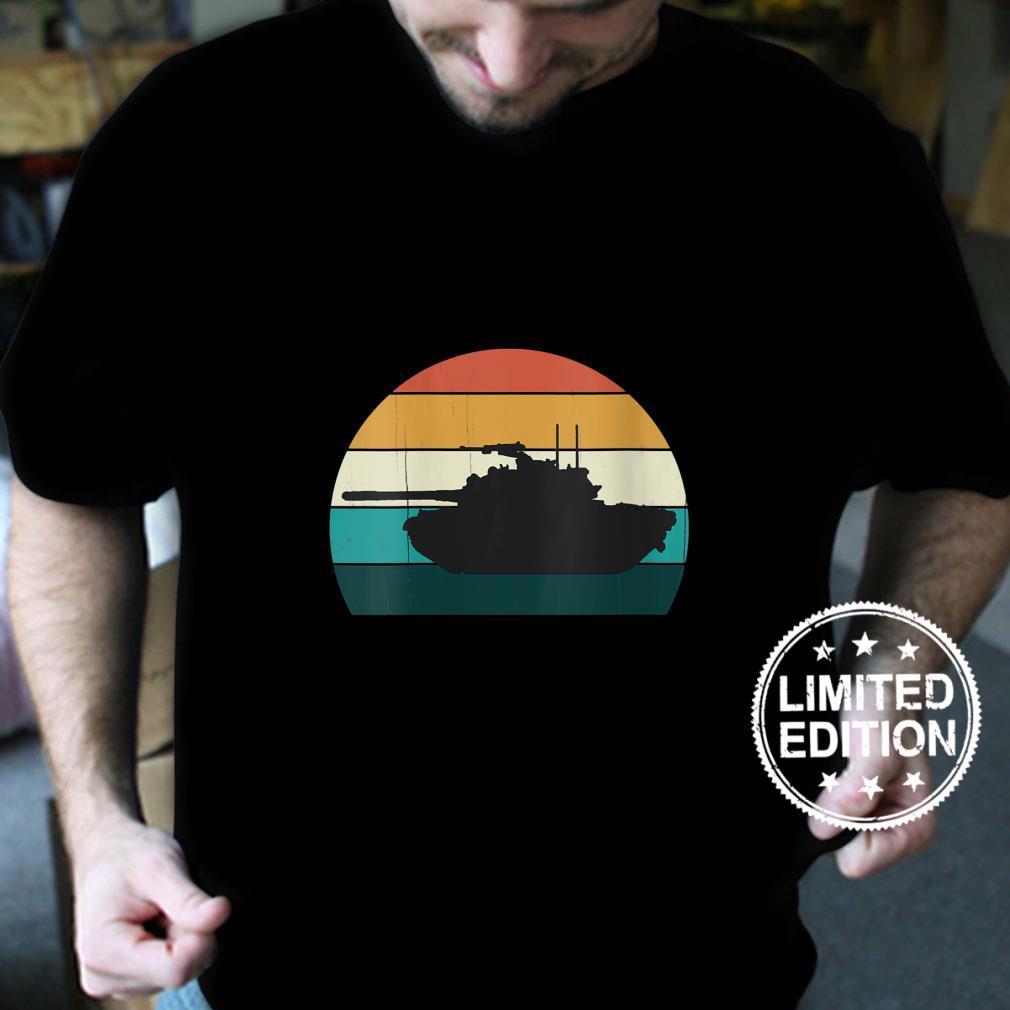 Womens Vintage M48 Patton Retro Sunset American Medium Battle Tank Shirt