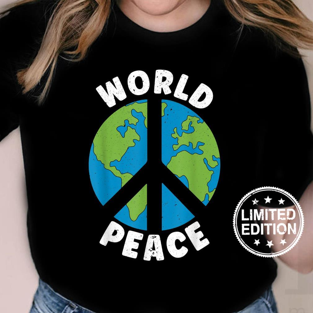 World Peace Kindness End Hate International Day Of Peace Shirt ladies tee