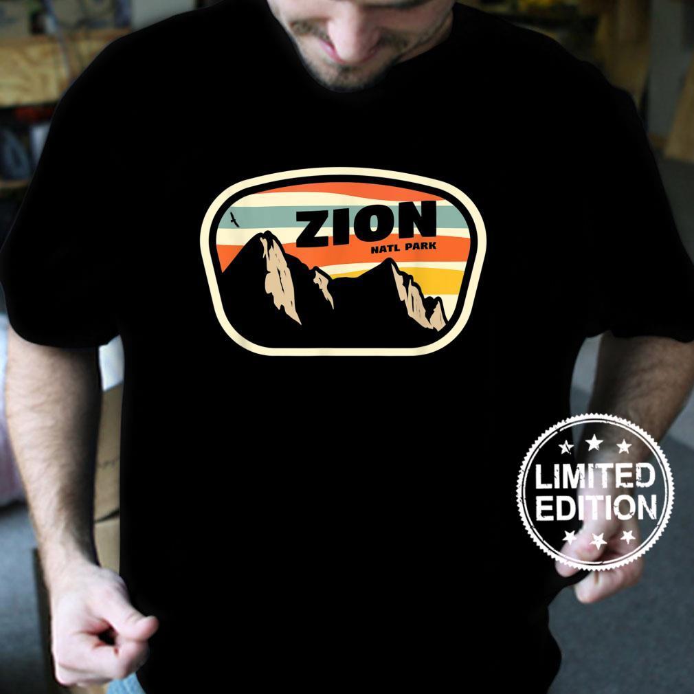 Zion National Park Utah Retro Vintage Design Geschenk Shirt