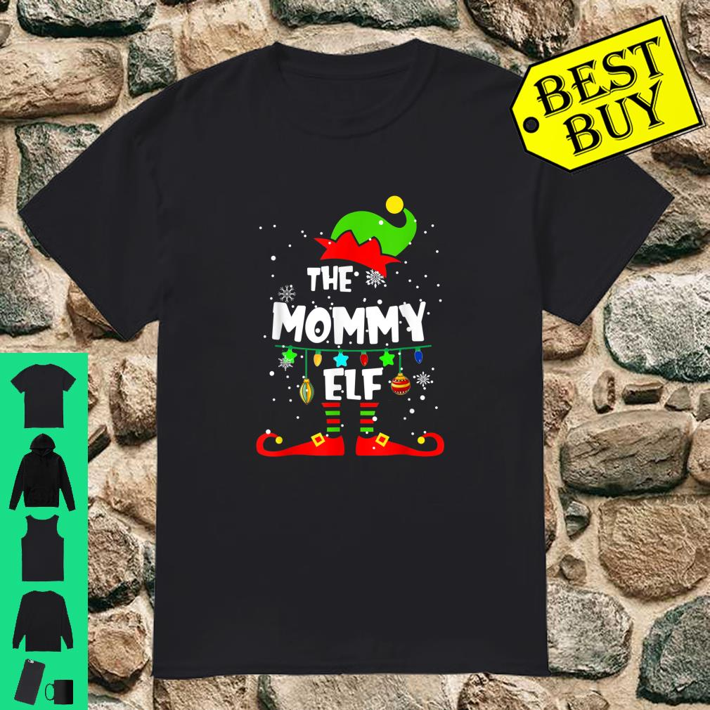 Mommy Elf Matching Family Group Christmas Party Pajama shirt