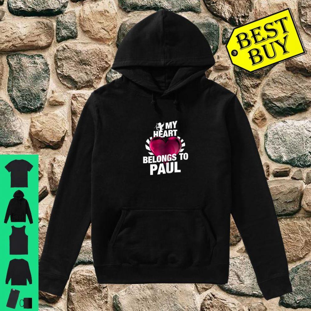 My Heart Belongs To Paul Pink Heart Valentines Day Shirt hoodie