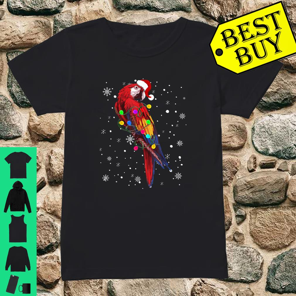 Parrot With Christmas Lights Shirt ladies tee