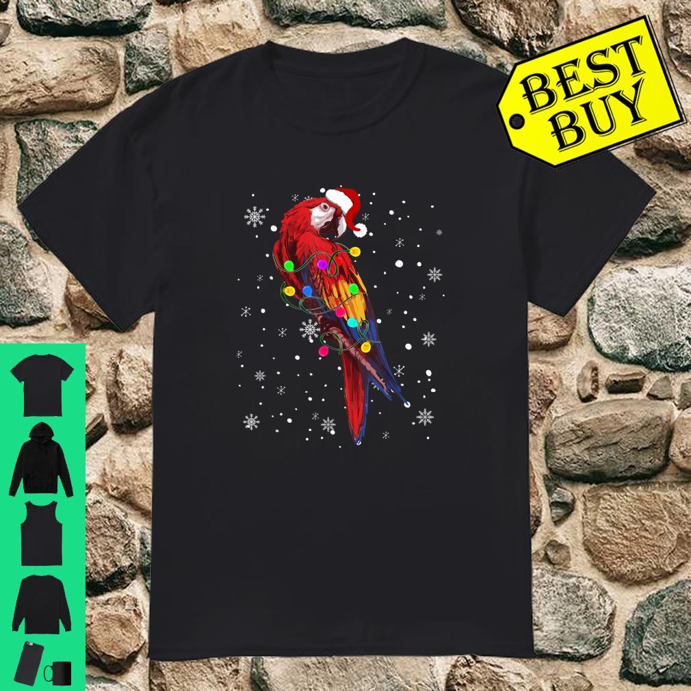 Parrot With Christmas Lights Shirt