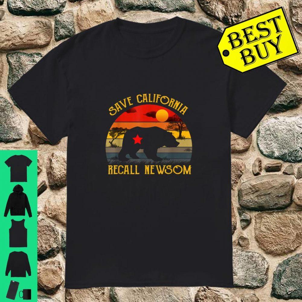 Save California Recall Newsom Conservative Political shirt