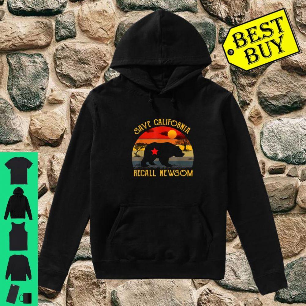 Save California Recall Newsom Conservative Political shirt hoodie