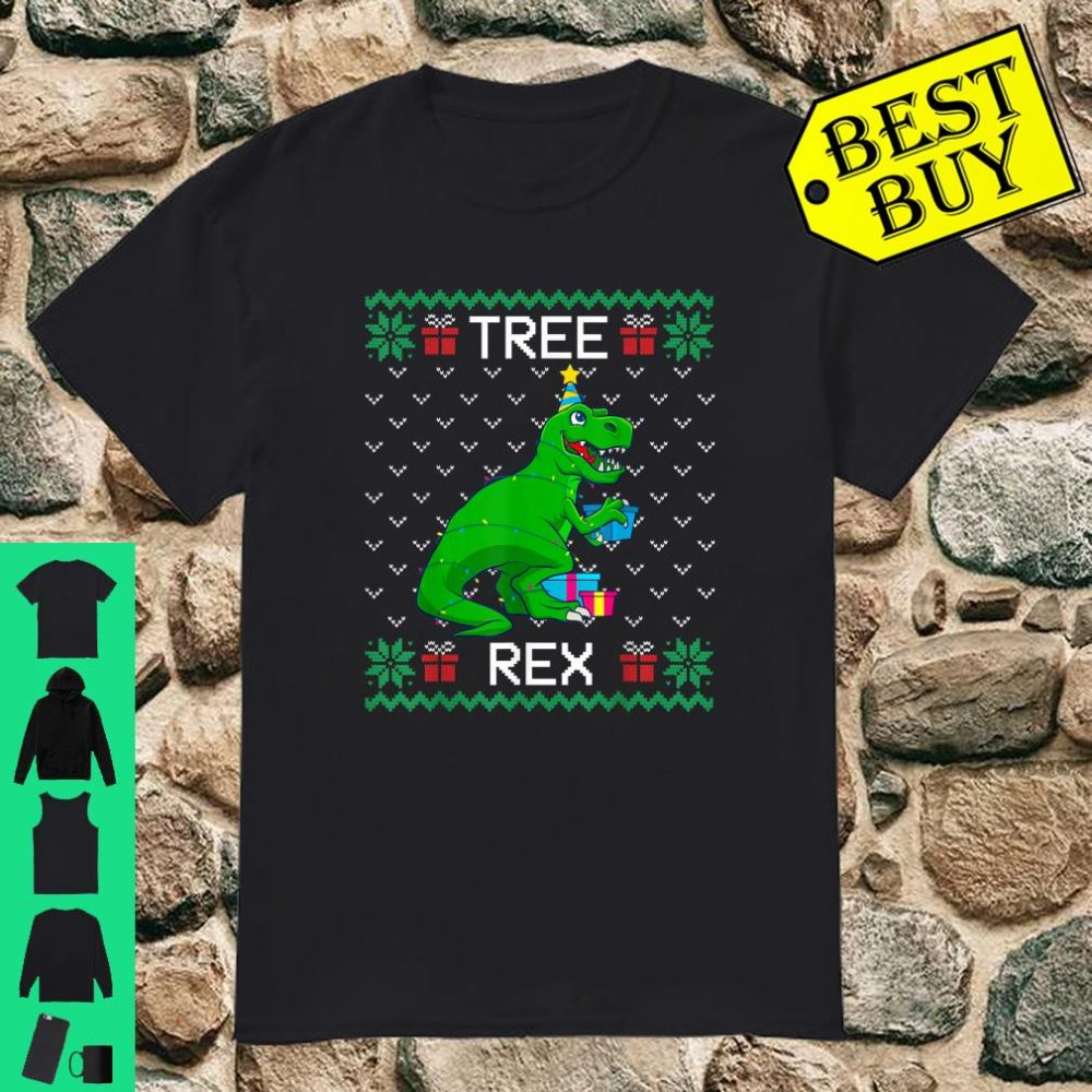 Tree Rex Christmas Dinosaur Ugly Sweater Matching Family shirt