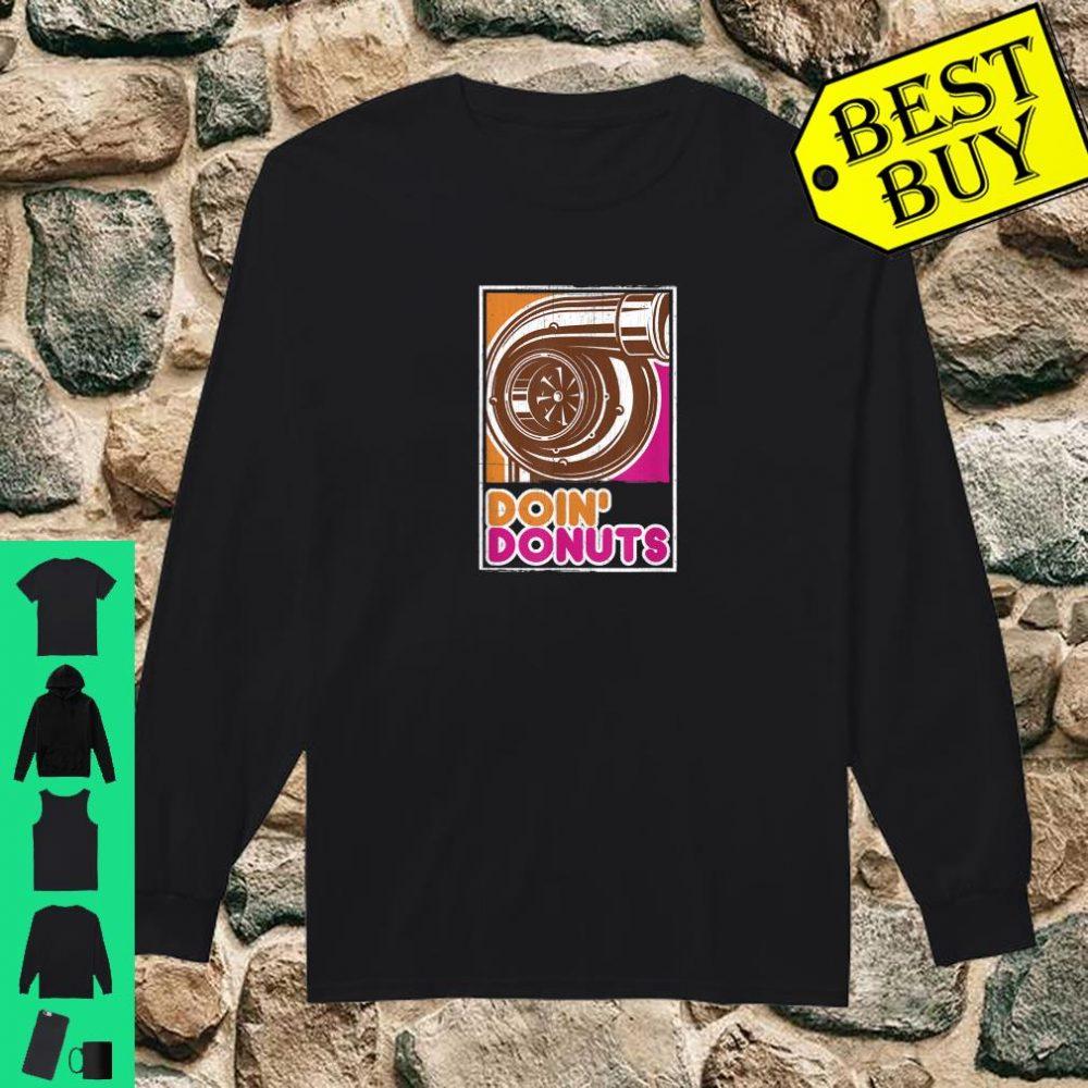 Vintage Doin' Donuts Car Enthusiast Shirt long sleeved